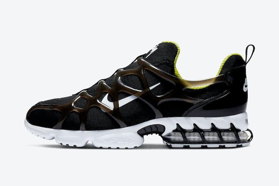 Stussy Nike Air Zoom Spiridon KK Black Left