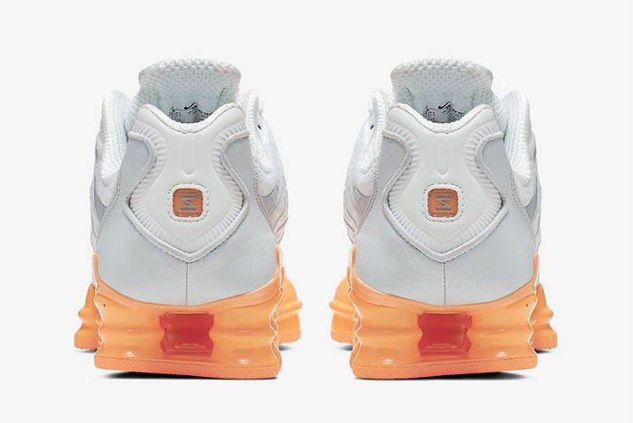 Nike Shox Tl Fuel Orange Heel
