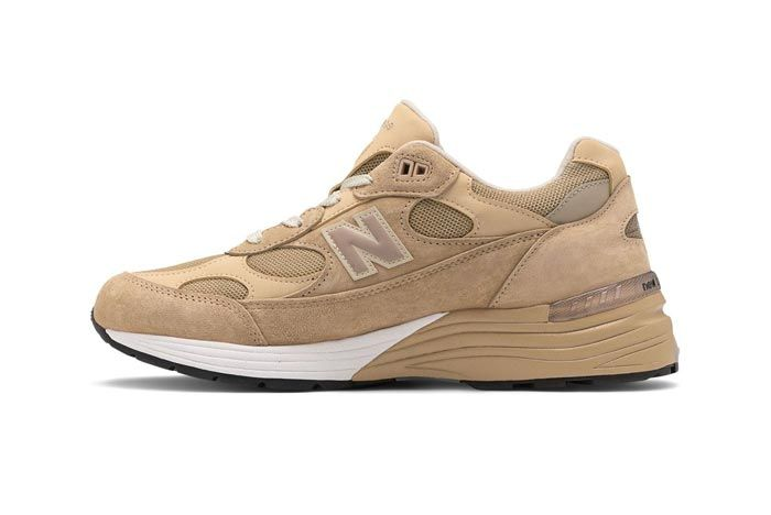 New Balance Made In Usa 992 Tan White Medial