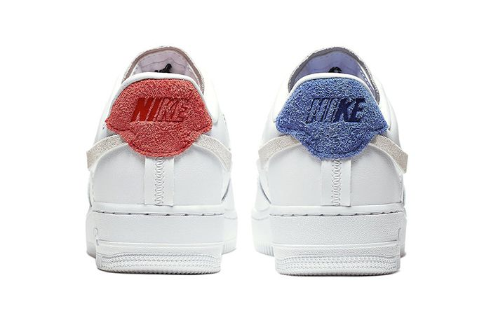 Nike Air Force 1 Inside Out White 898889 103 Release Date Heel