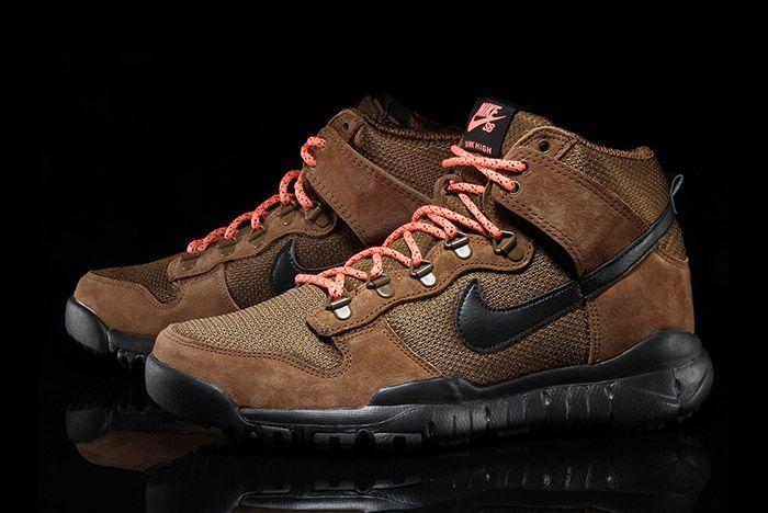 Nike Sb Dunk Hi Boot Military Brown 5