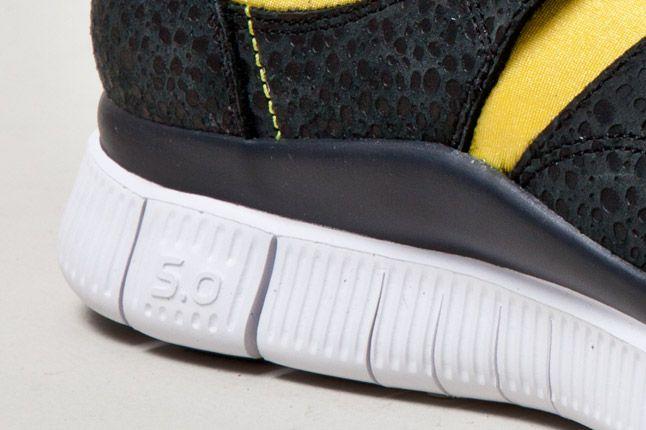 Nike Free Sockracer Yel Sole 1