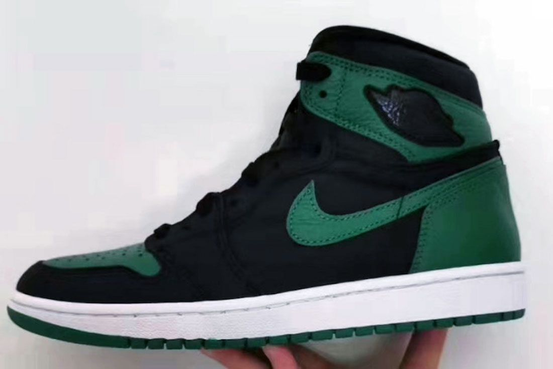 Air Jordan 1 Pine Green Gym Red 555088 030 First Look Release Date Side