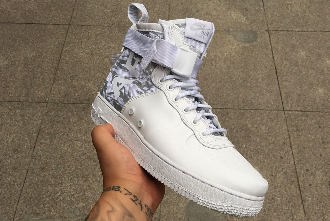 Ice Cold Nikes Sf Af 1 Appears In White Tiger Snow Camo6