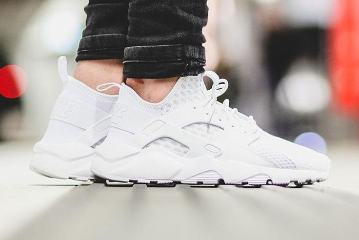Nike Air Huarache Ultra Br Triple White 6