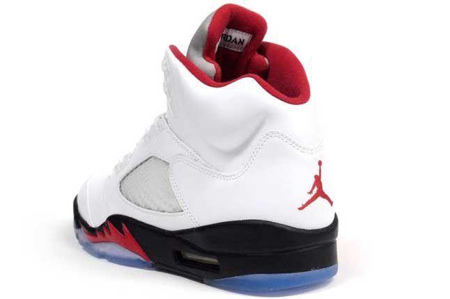 Ajv White Fire Red Heel 1