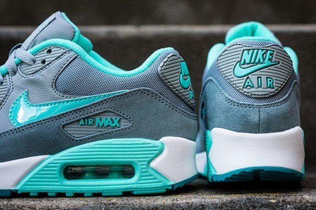 Nike Womens Air Max 90 Silver Hyper Turquoise