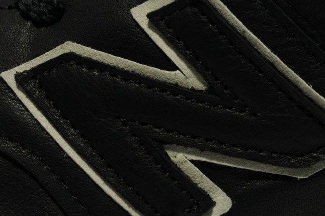 New Balance 576 Premium Leather Black Logo Detail 1