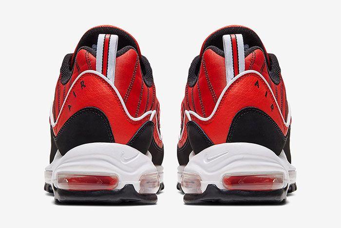 Nike Air Max 98 Red Black Heel