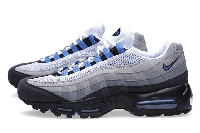 Nike Air Max 95 Grey Blue Pair Profile 1