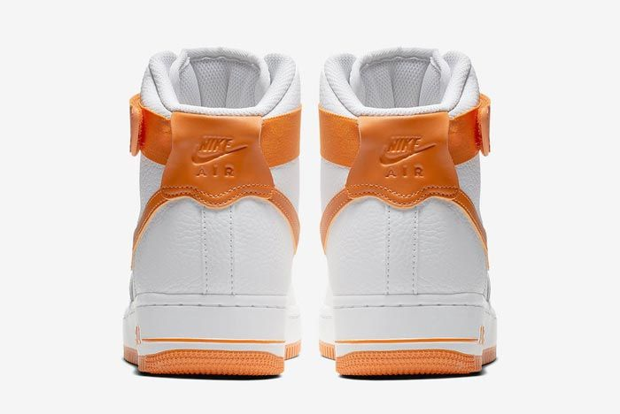 white and orange high top air force 1