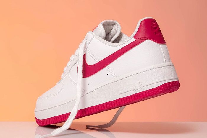 Nike Air Force 1 Wild Cherry Red Ah0287 107 Rear Angle
