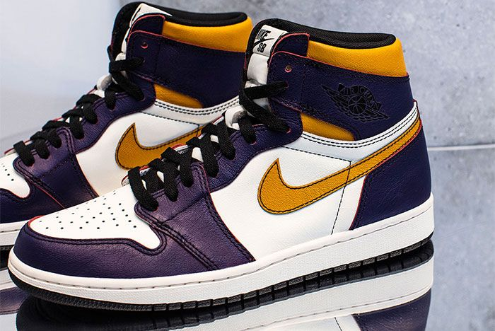 Nike Sb Air Jordan 1 Lakers Left 2