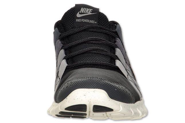 Nike Free Powerlines Mens Running Black Orange Grey Toe 1