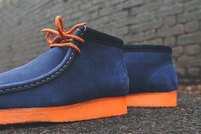 Mf Doom X Clarks Wallabee Boot Navy 6