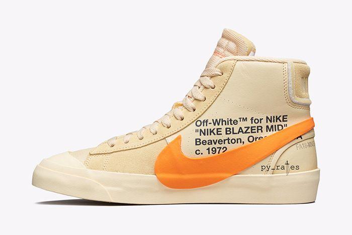 Off White Nike Blazer Mid New Canvas Black 2