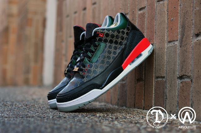 Dank Customs Absoluete Air Jordan 3 Gucci 2