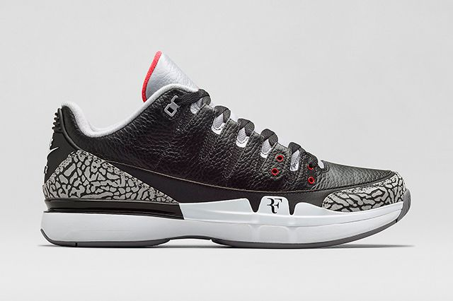 Nike Zoom Vapor Aj3 Black Cement 2