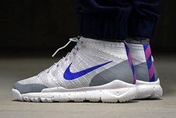 Nike Flyknit Trainer Chukka Fsb Wolf Grey Blue Thumb