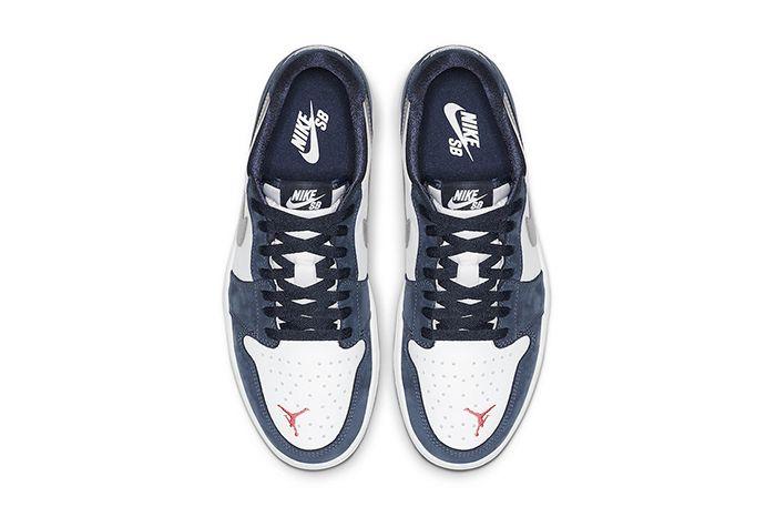 Nike Sb Air Jordan 1 Low Midnight Navy Cj7891 400 Release Date Top Down