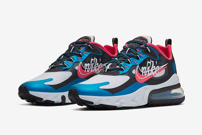 Nike Air Max 270 Reacts Script Swoosh Three Quarter