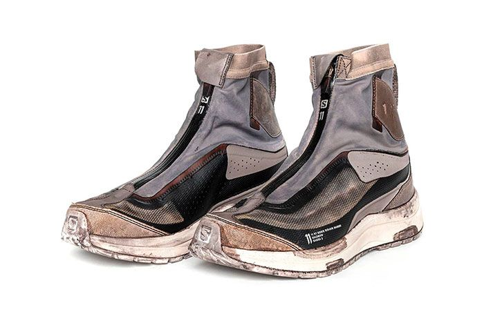 11 By Boris Bidjan Saberi X Salomon Spring Summer 2020 Footwear High Brown Three Quarter Angle Shot