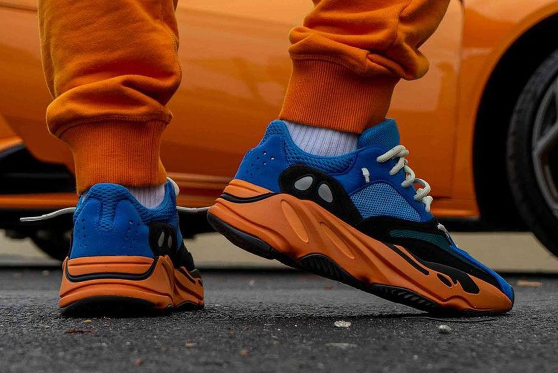 Yeezy BOOST 700 Bright Blue On Foot yankeekicks