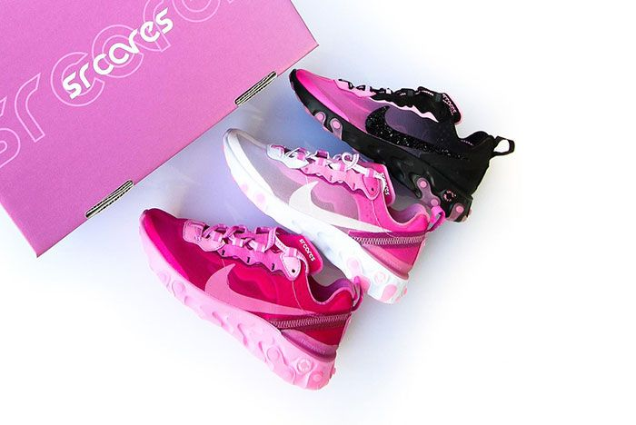 Sneaker Room Nike React Element 87 Pink Breast Cancer Release Date Group