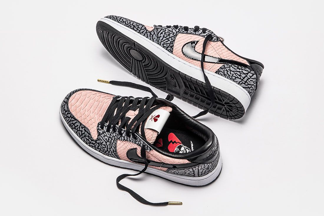 Shoe Surgeon Aj1 Low Sb Heart Breaker Top Side Alternative