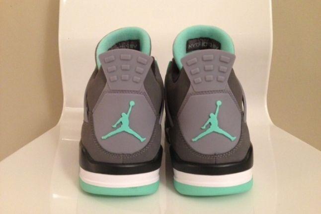 Air Jordan 4 Green Glow Heels 1