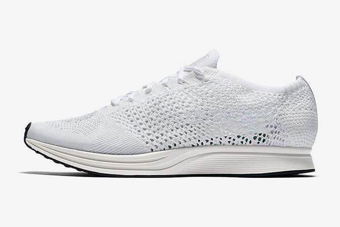 Nike Flyknit Racer Triple White5