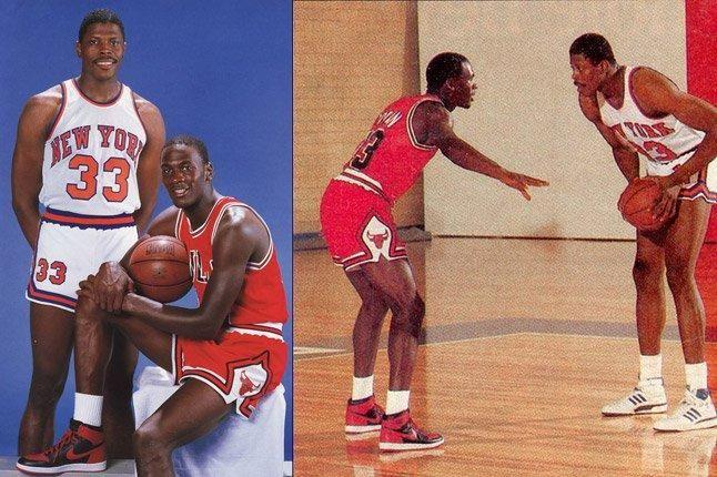 Michael Jordan And Patrick Ewing 1