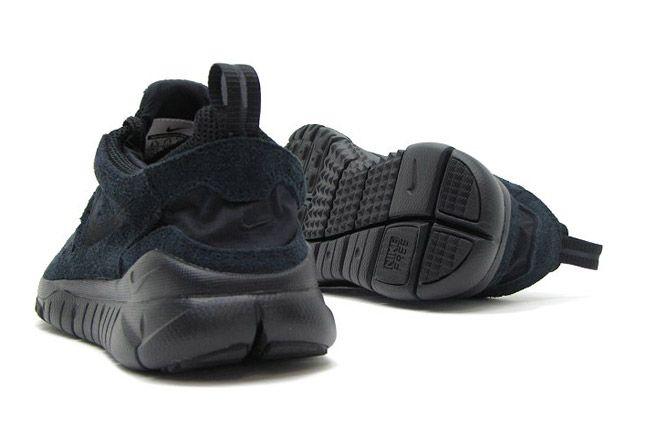 Nike Free Trail Black Suede Heel 1