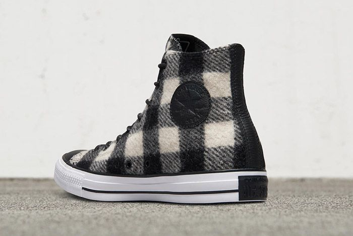 Woolrich Converse Chuck Taylor All Star High Black White 1