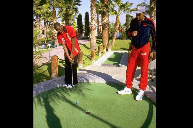 Jordan Playing Golf 1