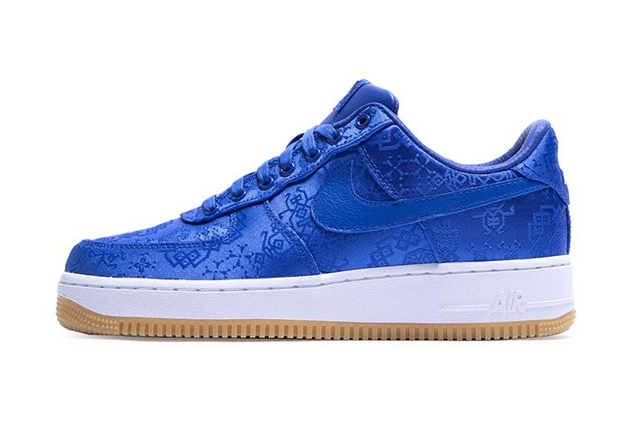 Clot Nike Air Force 1 Low Royale University Blue Silk Cj5290 400 Release Date Lateral