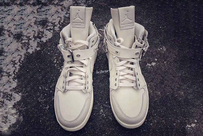 Cdg Air Jordan 1 White Cn5738 100 Release Front