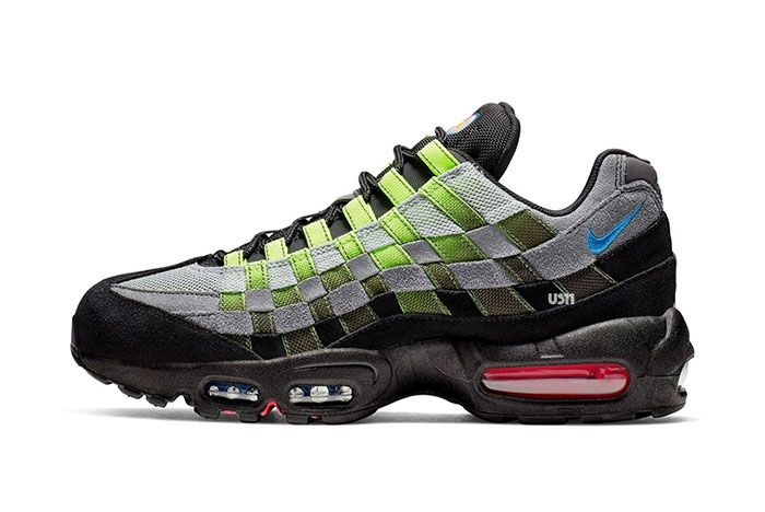 Nike Air Max 95 Woven Black Green Left