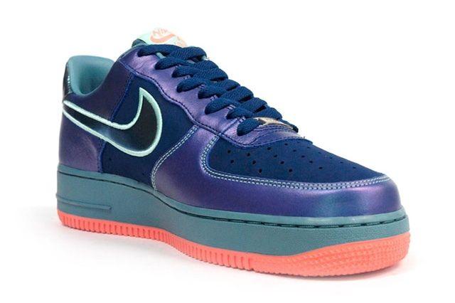 Nike Air Force 1 Blu Sax Orange 2