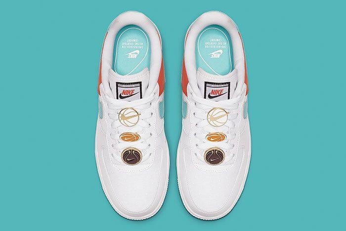 Nike Air Force 1 White Aqua Clay Aa0287 106 Top