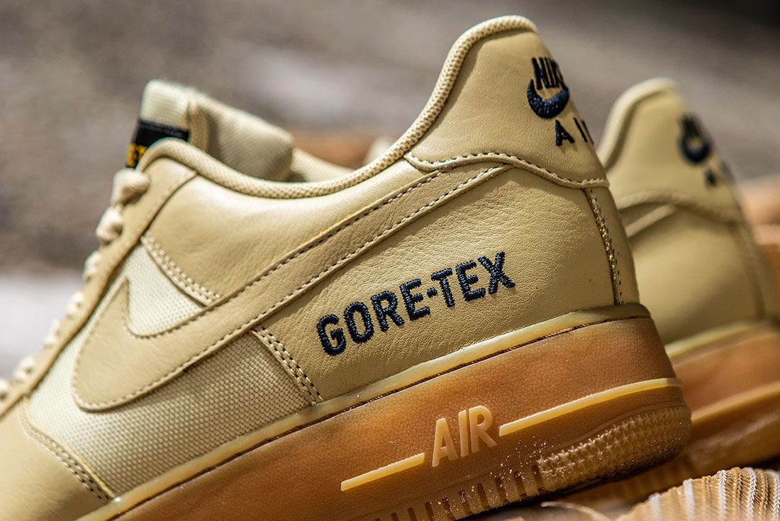 Nike Air Force 1 Gore Tex Khaki Heel Detail Sneaker Freaker