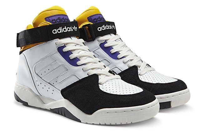 Adidas Originals Enforcer Mid Yellow Purple 1