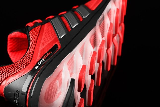 Adidas Springblade Red Black Heel Sole Detail 1