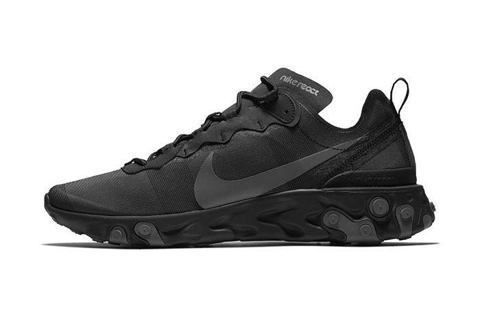 Nike React Element 55 Triple Black 1