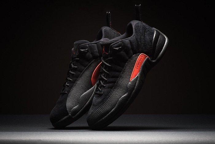 Air Jordan 12 Low Black Max Orange 1