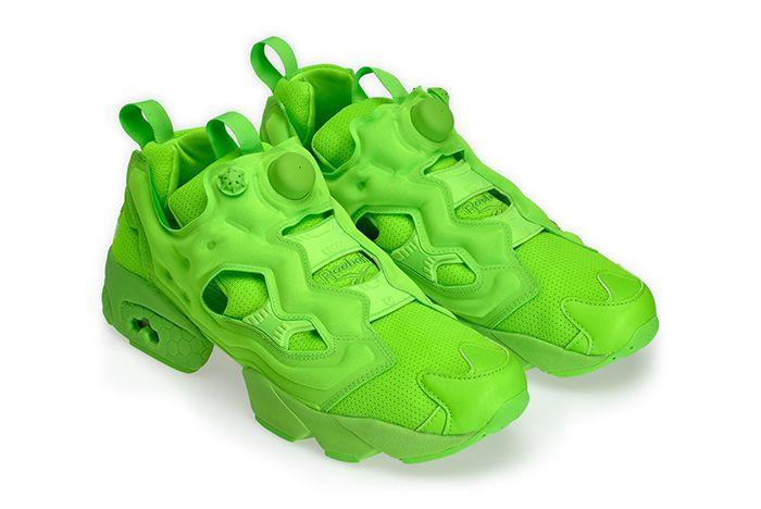 Vetement Reebok Neon Pump Green 3