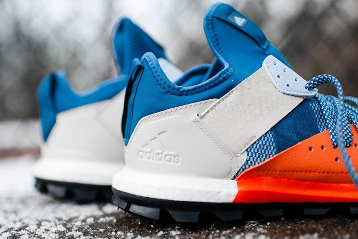 Adidas Response Trail Boost Core Blue Energy Orange 5