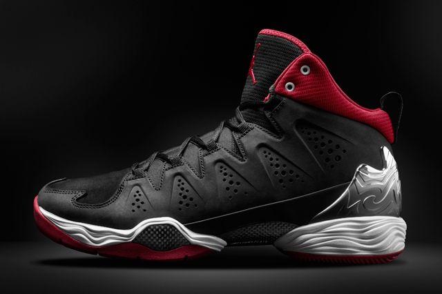 Air Jordan Melo 10 Red Black Side