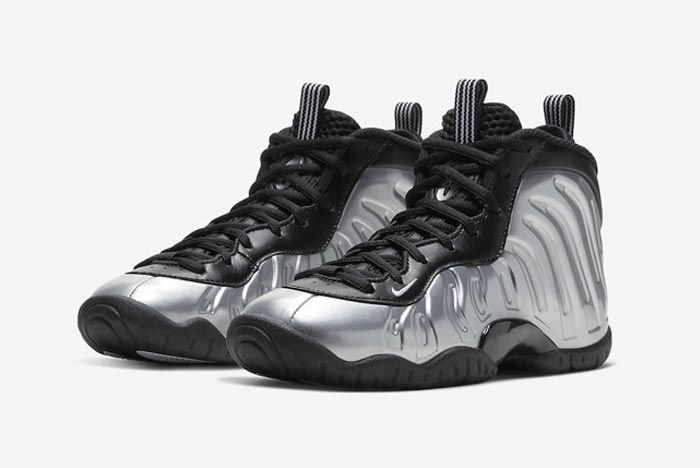 Nike Little Posite One Chrome Pair