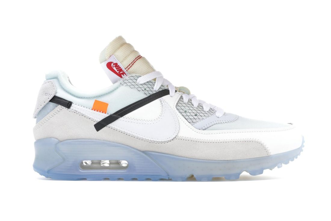 Off White Nike Air Max 90 White Aa7293 100 Lateral